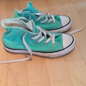 Converse Kids High Top Green/Teal Size 1